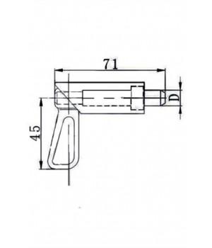 Пружинный фиксатор 71 мм.